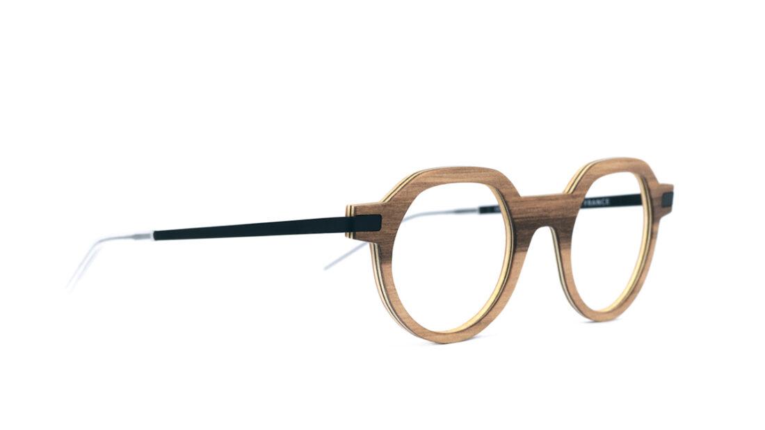 Monture bois Emile RG - coloris redgum - vue de côté