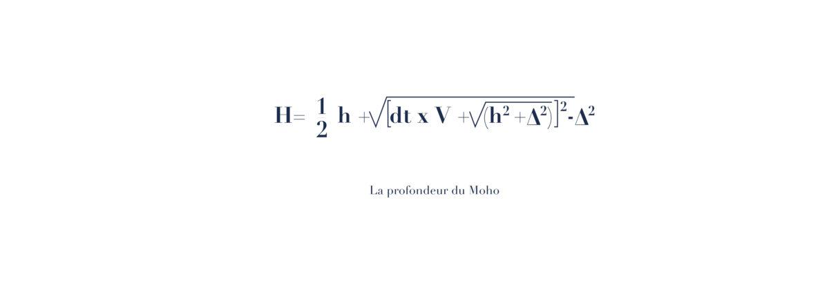 Equation Mathématiques de la Profondeur du Moho